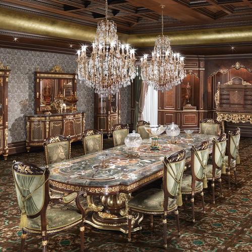 クラシックテーブル / ソリッド ウッド製 / 無垢木材製 / 長方形
