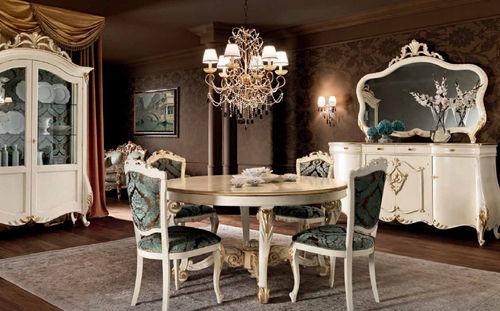 クラシック食卓テーブル / 木製 / 円形 / 100% リサイクル可能