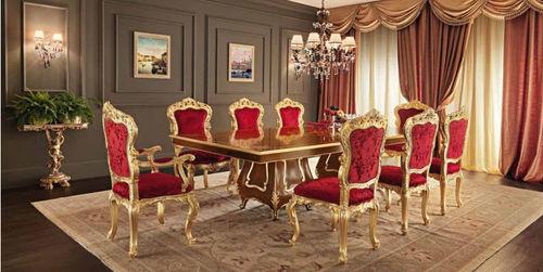 クラシック食卓テーブル / 木製 / 長方形 / エクステンション