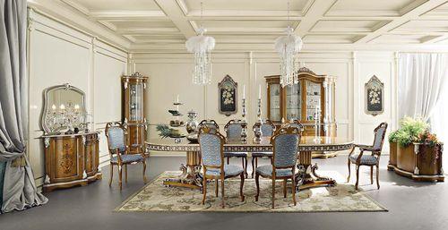 クラシック食卓テーブル / 木製 / 長方形 / 円形