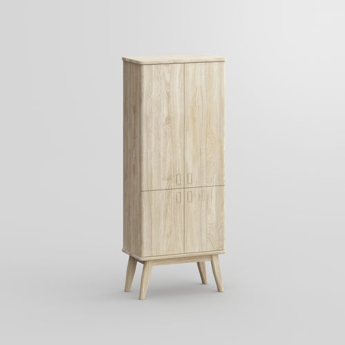 ハイサイドボード / デザイン / オーク材 / クルミ材