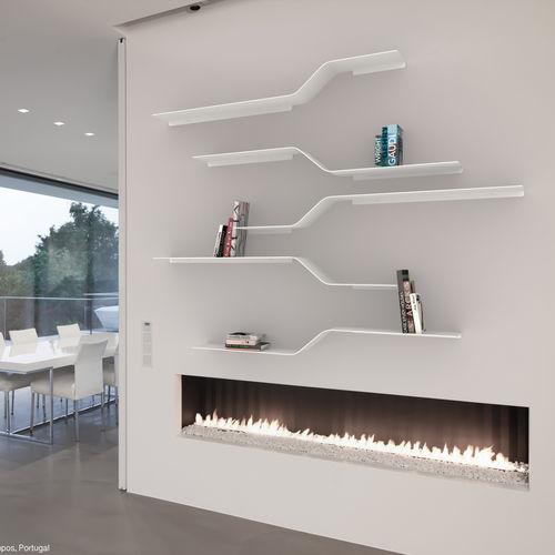 壁取り付け式棚 / モジュール式 / ミニマリストデザイン / アルミ製