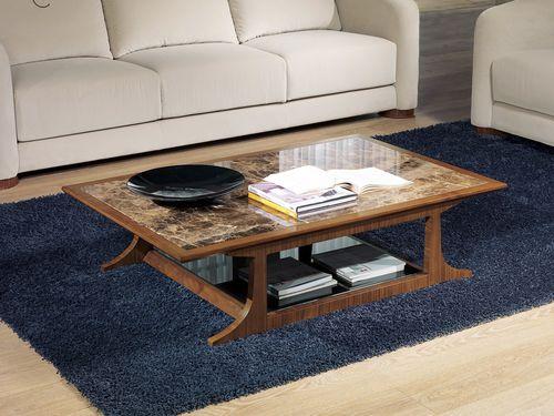 コンテンポラリーコーヒーテーブル / 木製 / 長方形