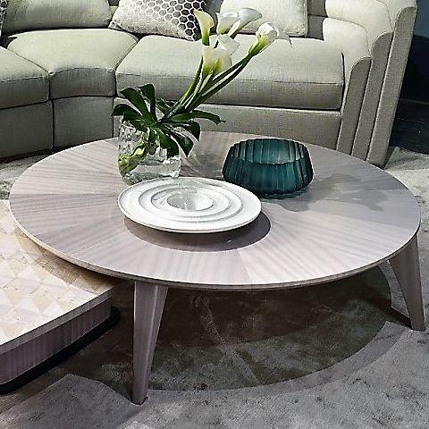 コンテンポラリーコーヒーテーブル / 木製 / 円形 / リビング用
