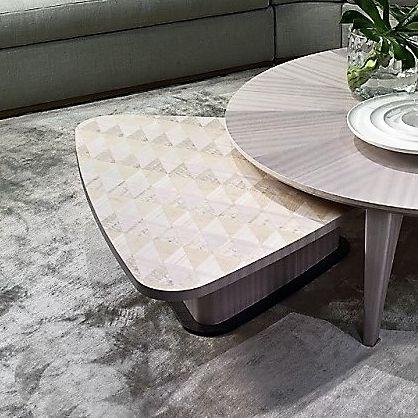 コンテンポラリーコーヒーテーブル / エキゾチック木材 / 三角形 / リビング用