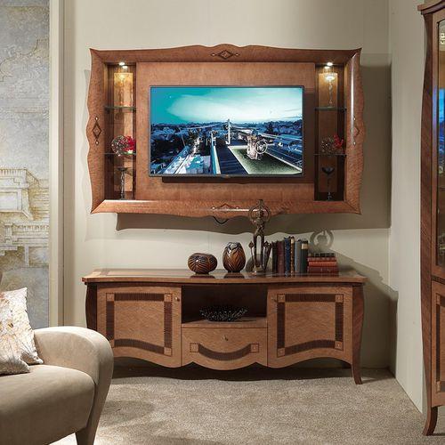 伝統的テレビ壁ユニット / 木製