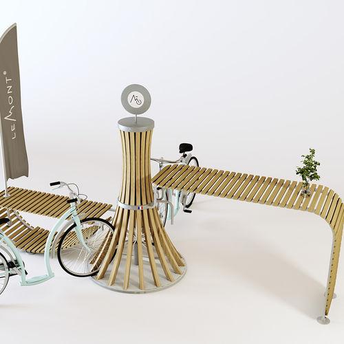 亜鉛めっき鋼製自転車ラック / アルミ製 / 木製 / オリジナルデザイン