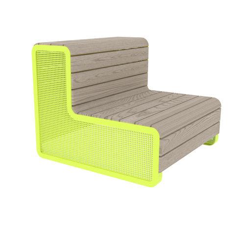 公共ベンチ / ガーデン用 / コンテンポラリー / マツ製