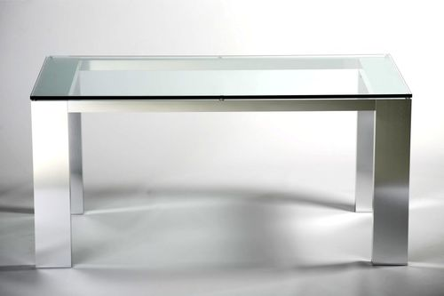 コンテンポラリーテ-ブル / ガラス製 / 長方形 / オフィス用
