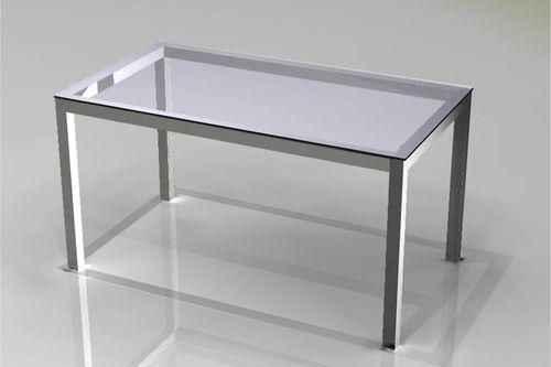 コンテンポラリーテ-ブル / 硬化ガラス製 / 長方形 / オフィス用