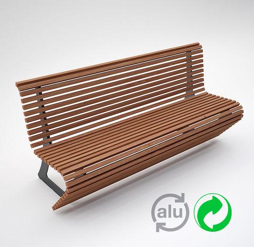 公共ベンチ / コンテンポラリー / アルミ製 / 塗装金属製