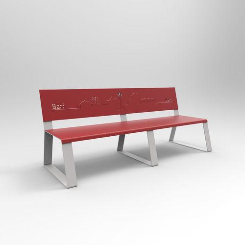 公共ベンチ / コンテンポラリー / 亜鉛めっき鋼製 / ペイントスチール製