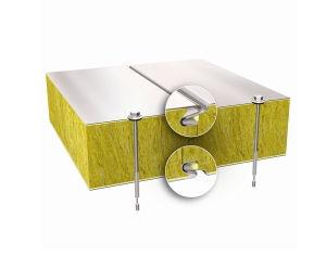 建物の正面用合板パネル / 壁用 / 金属面 / グラスウール製芯