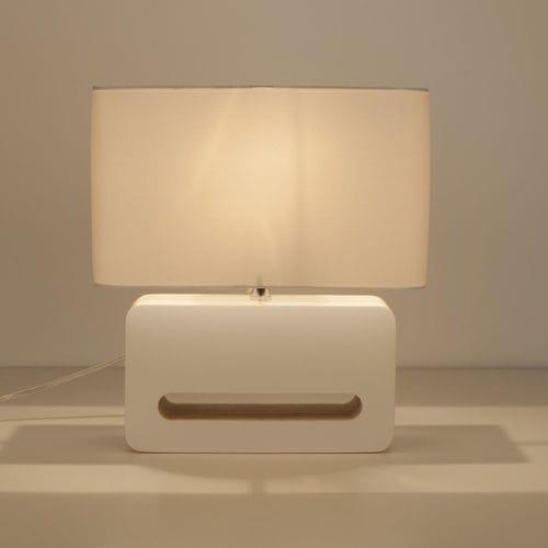 台用ライト / コンテンポラリー / 布製 / 木製