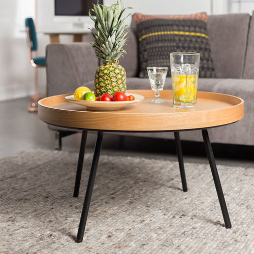 コンテンポラリーコーヒーテーブル / オーク材 / MDF / ベニヤ板