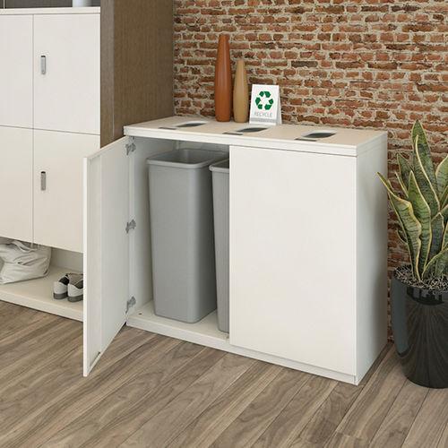 公共ゴミ箱 / スチール製 / コンテンポラリー / リサイクル