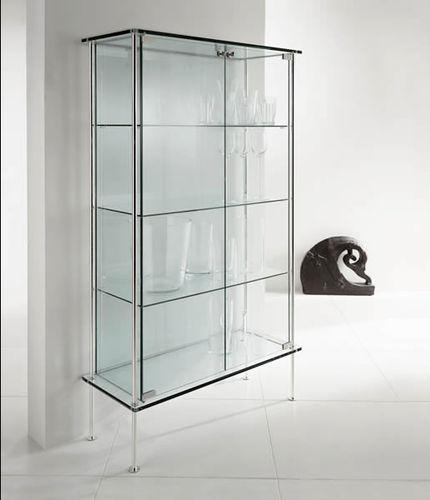 コンテンポラリー展示ケース / ガラス製 / 金属製