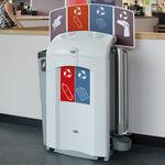 公共ゴミ箱 / 再生プラスチック製 / 公共スペース用 / コンテンポラリー