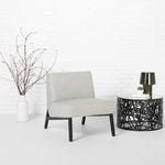 コンテンポラリー安楽椅子 / 布製 / 楓材製 / ベージュ