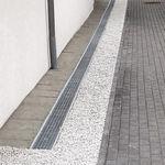 外壁排水路 / スチール製 / グリル付