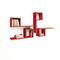 モジュール式棚 / コンテンポラリー / 木製 / 漆塗りを施したMDF