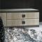 コンテンポラリーサイドボード / クルミ材 / レザー / 大理石製