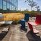 コンテンポラリーチェア / 亜鉛めっき鋼製 / 屋外用 / 公共スペース用