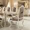 クラシック食卓テーブル / ソリッド ウッド製 / 金箔付き木 / 布製