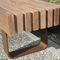 公共ベンチ / 伝統的 / 木製 / 背もたれ付き