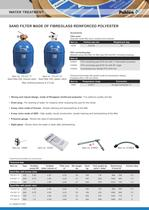 Pool sand filters 520, 640, 760