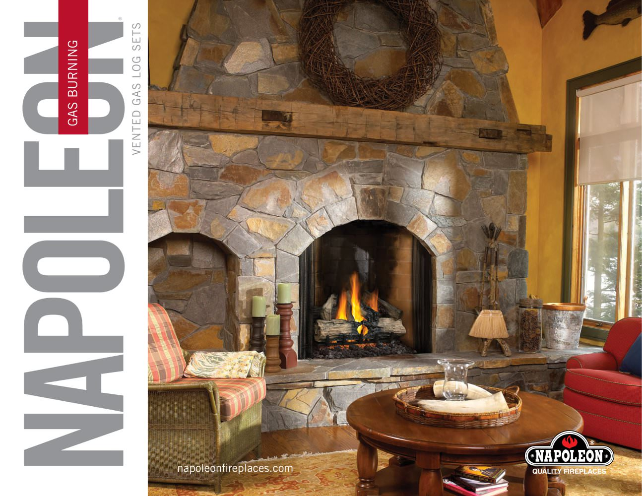 reversible gas log set gl22 napoleon fireplaces pdf