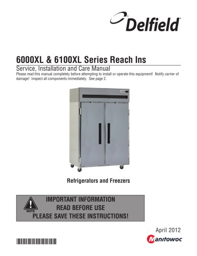 6000XL & 6100XL Series Reach Ins