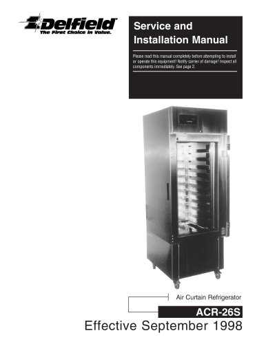 service and installation manual - 1 / 20 pages
