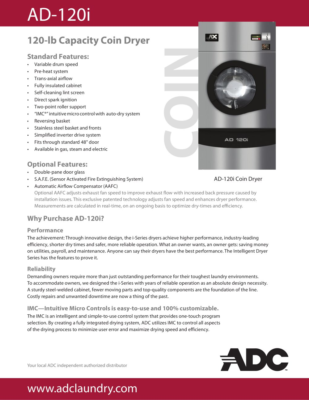 Ad 120i american dryer corp pdf catalogues documentation ad 120i 1 2 pages publicscrutiny Choice Image