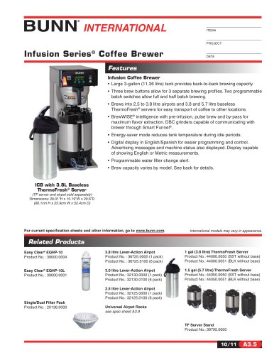 Filter Coffee Bunn:Bunn Infusion Series Coffee Brewer