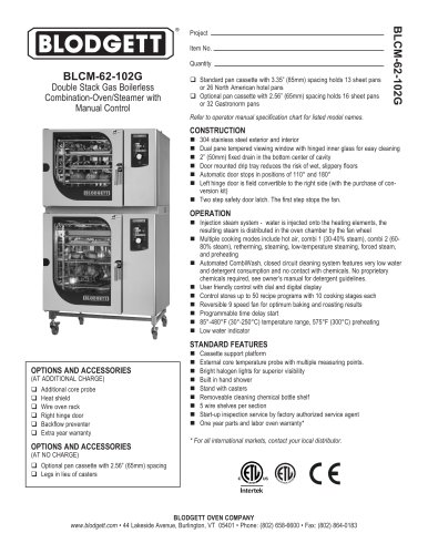 BLCM 62 102G Blodgett PDF Catalogs Documentation