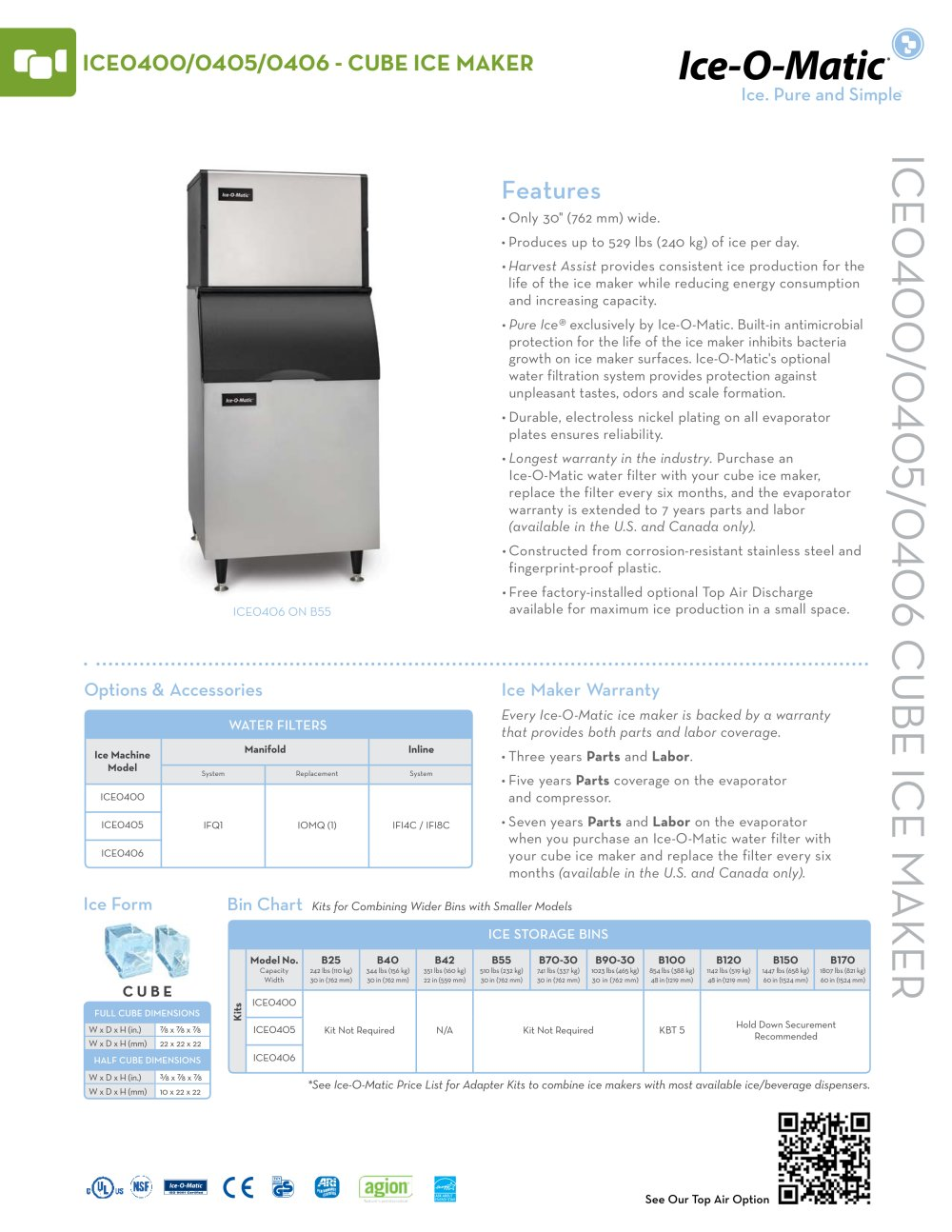 Ice0400 Modular Cube Ice Machine O Matic Pdf Catalogues Wiring Diagram Flake 1 2 Pages