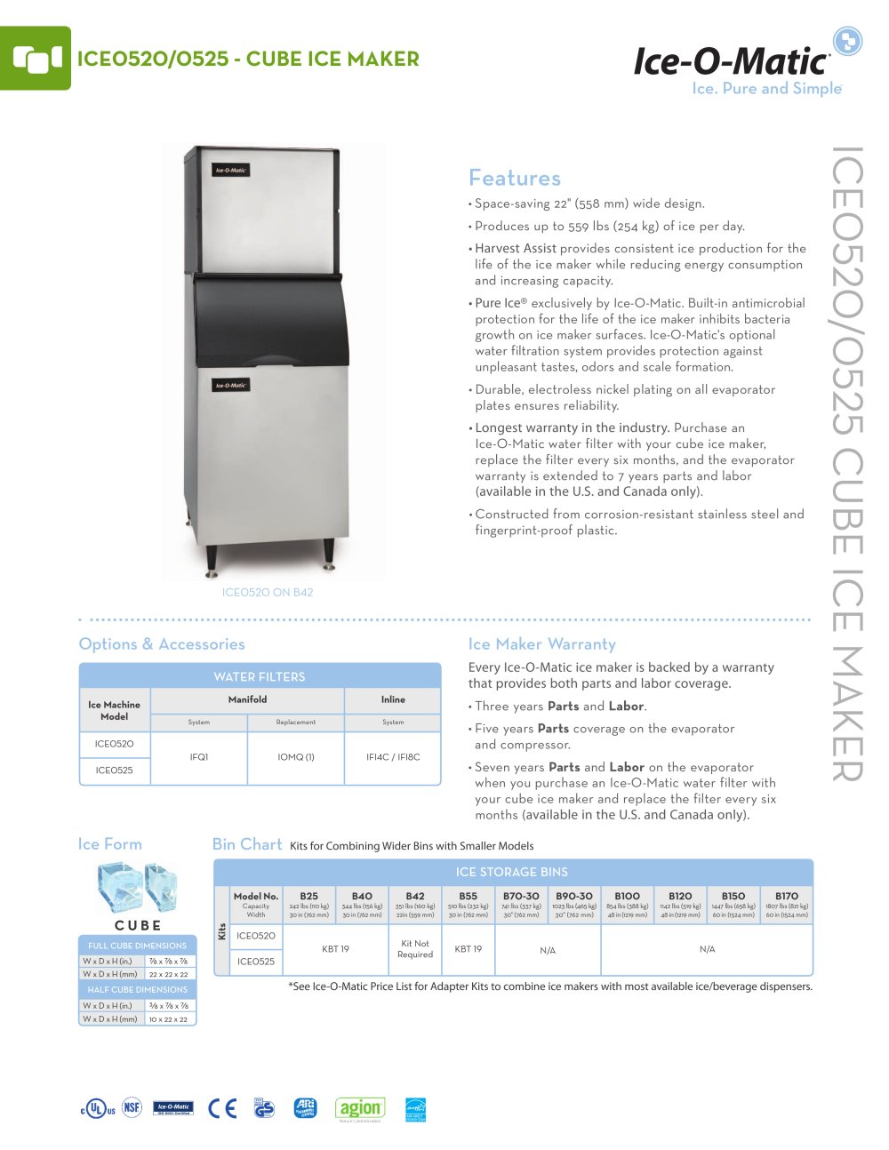 ice0520 modular cube ice machine 119531_1b ice0520 modular cube ice machine ice o matic pdf catalogues  at bayanpartner.co