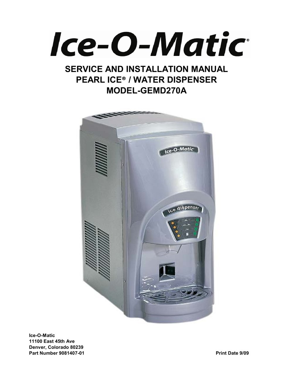 model gemd270a 106599_1b model gemd270a ice o matic pdf catalogues documentation  at bayanpartner.co