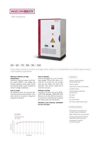 INGECON SUN Power - Ingeteam - PDF Catalogs   Documentation   Brochures