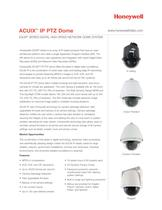 ACUIX IP PTZ Dome Datasheet