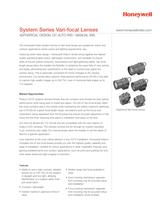 System Series Vari-Focal Lenses