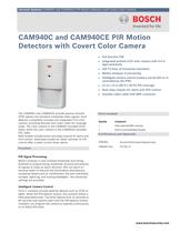 CAM940C and CAM940CE PIR Motion Detector with Covert Color Camera