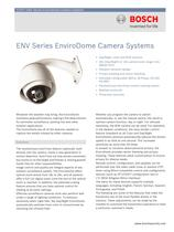ENV Series EnviroDome Camera Systems