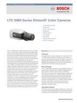 LTC 0485 Series DinionXF Color Cameras