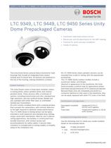 LTC 9349, LTC 9449, LTC 9450 Series Unity Dome Prepackaged Cameras