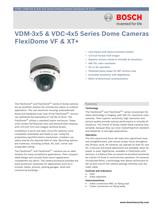 VDM-3x5 and VDC-4x5 Series Dome Cameras FlexiDome VF and XT+