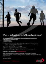 Want to be kept informed of Desso Sports news?