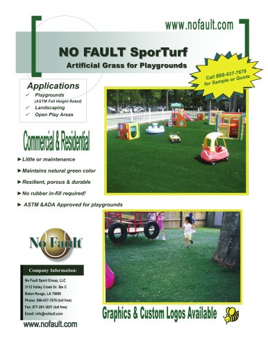 SporTurf Safety Surface