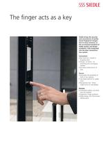 Siedle Fingerprint - The finger acts as a key
